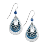Silver Forest Blue Earrings
