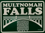 Multnomah Falls Retro Sticker