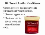 Oil tanned Leather Conditioner