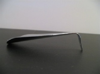 Polished Metal Shoe Horn with hook grip - 3.5""