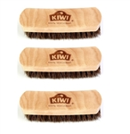 "( 3 Pack ) KIWI 100% Horsehair 5.75"" Shoe Shine Brush"