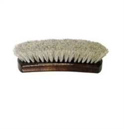 "Professional 8.25"" Shoe Shine Brush - Light Bristles"