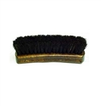"Professional 8.25"" Shoe Shine Brush - Dark Bristles"