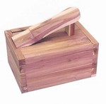 Cedar Shoe Care Valet box - Empty