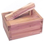 Large Cedar Shoe Care Valet - Empty