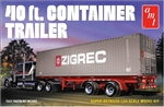 AMT ... 40' SEMI CONTAINER TRAILER 1/24