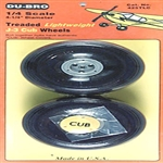 DUBRO 425TLC... J-3 CUB WHEELS 4-1/4""