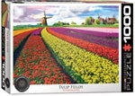 EUROGRAPHICS PUZZLES 6... PUZZLE TULIP FIELDS NETHERLANDS 1000PC