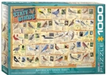 EUROGRAPHICS PUZZLES 7... PUZZLE SIBLEY - AMERICAN STATE BIRDS 1000PC