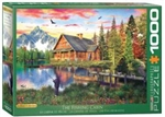 EUROGRAPHICS PUZZLES 6... PUZZLE THE FISHING COTTAGE BY DAVISON 1000PC