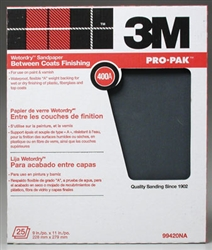3M CO. 400W... SANDPAPER WET OR DRY 400 GRIT