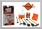 PHOENIX TOYS ... CAUTION SIGN, TOOL BOX, COOLER, GENERATOR, SHOVELS, BROOM,