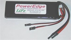 RC ACCESSORIES PE3000LIFE2S... 3000MAH 2-CELL LIFE RX PACK