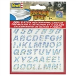 REVELL Y9446... PEEL & STICK HOLOGRAPHIC DECAL NUMBERS/LETTERS BSA