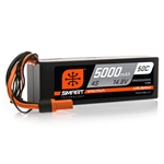 SPEKTRUM 0H52PACK... 5000MAH 4S 14.8V 50C SMART LIPO HARDCASE; IC5 2-PACK