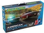 SCALEXTRIC ... AMERICAN POLICE CHASE JAVELIN POLICE CAR V DODGE CHALLENGER