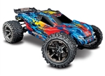 TRAXXAS D... RUSTLER 4X4 VXL RED / YELLOW