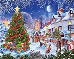 WHITE MOUNTAIN PUZZLES ... VILLAGE CHRISTMAS TREE PUZZLE (1000PC)