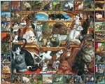 WHITE MOUNTAIN PUZZLES ... WORLD OF CATS COLLAGE PUZZLE (1000PC)
