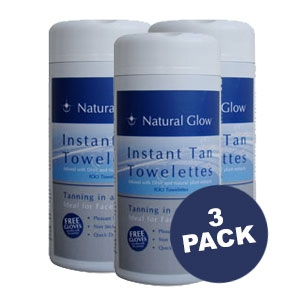 Natural Glow Instant Tan Towelettes 3PK