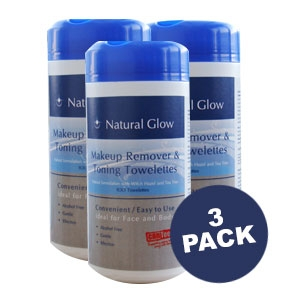Natural Glow Makeup Remover and Toning Towelettes 3 Pack