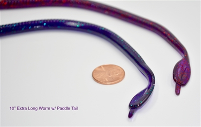 "10"" Extra long Paddle tail worm"