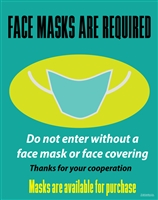 Face masks are required, avalible for purchase