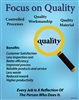 Focus on Quality Poster