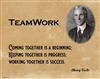 Teamwork Coming Together is A Beginning, Henry Ford, Poster