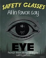 Safety Glasses Poster, Protect your eyes
