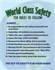 WORLD CLASS SAFETY (Ten Rules)