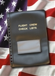 Flight Crew Check Lists Binders COVER ONLY (BLACK)