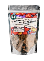 Blueberries and Strawberries Dog Biscuits