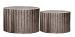 Drum Coffee Tables Set of 2