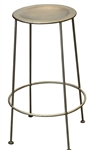 Bradley Silver Backless Barstool