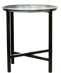 Bronx Iron Round Tray with Stand