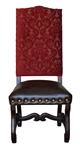 Aston Chennile Dining Chair Red