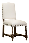 Aston Linen Dining Chair White
