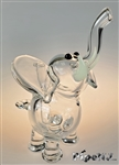 Flame Princess Glass Mini Clear Elephant w/ Tusks
