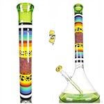 Hops Glass Worked Encalmo Retti Beaker Waterpipe