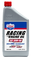 Lucas Oil Racing Only SAE 20W-50. New Zinc technology. Sold as 1 quart or case of 6.