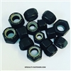 Black nylon lock nuts. Grade 8