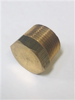 "3/4"" Brass pipe plug hex head."