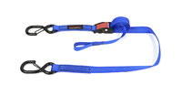 "1""x8' Cam-Lock Tie Down w/S Hooks and Soft Tie"