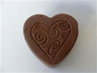 Love Chocolate Heart Olive Oil Soap
