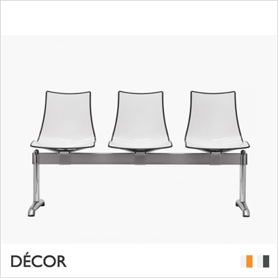 ZEBRA BICOLOUR BENCH, 3 SEATS