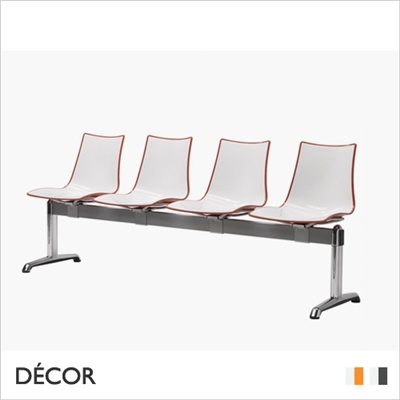 ZEBRA BICOLOUR BENCH, 4 SEATS