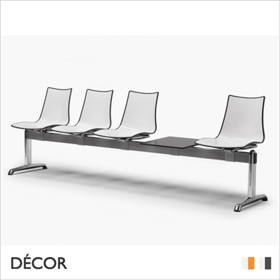ZEBRA BICOLOUR BENCH, 4 SEATS WITH TABLE