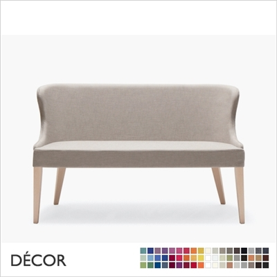 AGATHA DINING SOFA, ECO LEATHER, ECO SUEDE OR FABRIC