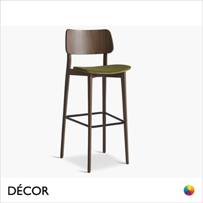 TULA BAR STOOL, ECO LEATHER & DESIGNER FABRICS